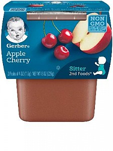 Gerber Apple Cherry 8(2x4oz)