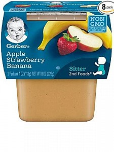 Gerber Apple Strawberry Banana 8(2x4oz)