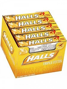 Halls Honey Lemon 20pk
